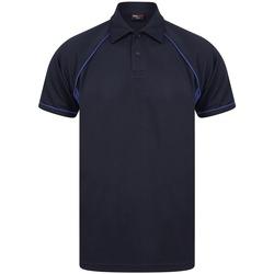 vaatteet Miehet Lyhythihainen poolopaita Finden & Hales LV370 Navy/Royal Blue
