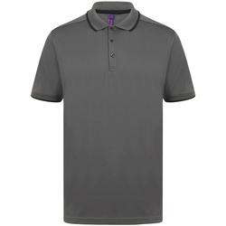 vaatteet Miehet Lyhythihainen poolopaita Henbury HB485 Charcoal/Black