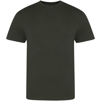 vaatteet Miehet Lyhythihainen t-paita Awdis JT100 Combat Green
