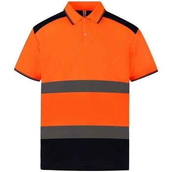 vaatteet Lyhythihainen poolopaita Yoko YK017 Orange/Navy