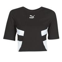 vaatteet Naiset Lyhythihainen t-paita Puma RETRO FROPnTOP Musta