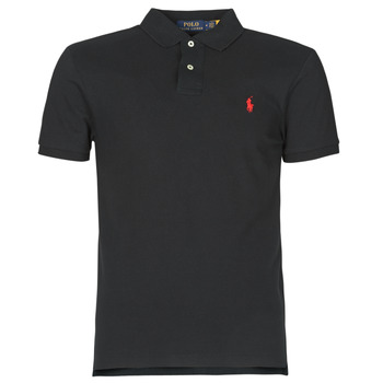 vaatteet Miehet Lyhythihainen poolopaita Polo Ralph Lauren POLO CINTRE SLIM FIT EN COTON BASIC MESH LOGO PONY PLAYER Black