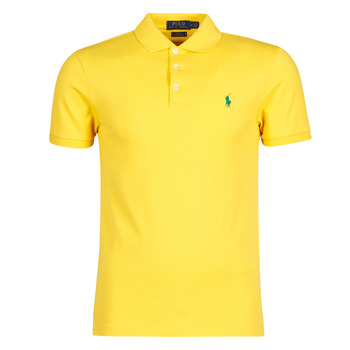 vaatteet Miehet Lyhythihainen poolopaita Polo Ralph Lauren POLO CINTRE SLIM FIT EN COTON STRETCH MESH LOGO PONY PLAYER Keltainen