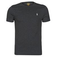 vaatteet Miehet Lyhythihainen t-paita Polo Ralph Lauren T-SHIRT AJUSTE COL ROND EN COTON LOGO PONY PLAYER Musta