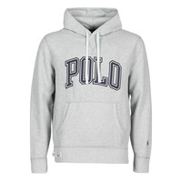 vaatteet Miehet Svetari Polo Ralph Lauren SWEATSHIRT CAPUCHE INSCIRPTION POLO ET PONY PLAYER SUR LA MANCHE Grey