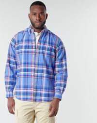 vaatteet Miehet Pitkähihainen paitapusero Polo Ralph Lauren CHEMISE AJUSTEE EN OXFORD COL BOUTONNE  LOGO PONY PLAYER MULTICO Monivärinen