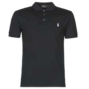 vaatteet Miehet Lyhythihainen poolopaita Polo Ralph Lauren POLO CINTRE SLIM FIT EN COTON STRETCH MESH LOGO PONY PLAYER Musta