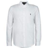 vaatteet Miehet Pitkähihainen paitapusero Polo Ralph Lauren COPOLO Valkoinen