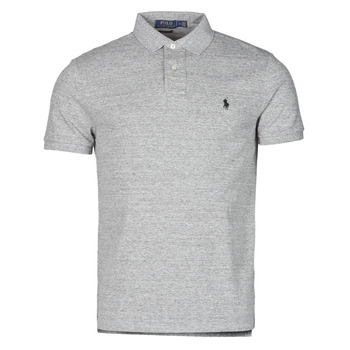 vaatteet Miehet Lyhythihainen poolopaita Polo Ralph Lauren POLO AJUSTE DROIT EN COTON BASIC MESH LOGO PONY PLAYER Grey / Heather