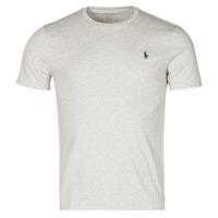 vaatteet Miehet Lyhythihainen t-paita Polo Ralph Lauren T-SHIRT AJUSTE COL ROND EN COTON LOGO PONY PLAYER Grey