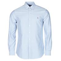 vaatteet Miehet Pitkähihainen paitapusero Polo Ralph Lauren LORENZ Sininen
