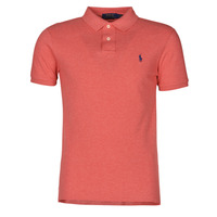 vaatteet Miehet Lyhythihainen poolopaita Polo Ralph Lauren POLO CINTRE SLIM FIT EN COTON BASIC MESH LOGO PONY PLAYER Pink / Heather