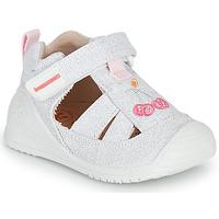 kengät Tytöt Sandaalit ja avokkaat Biomecanics 212213 Hopea / Valkoinen
