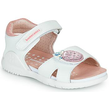 kengät Tytöt Sandaalit ja avokkaat Biomecanics 212163 Valkoinen / Vaaleanpunainen
