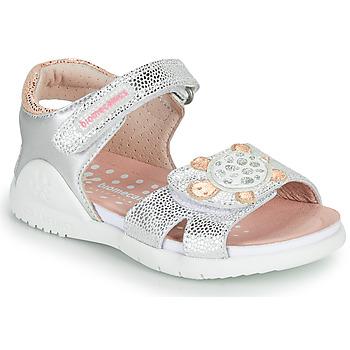 kengät Tytöt Sandaalit ja avokkaat Biomecanics 212172 Hopea