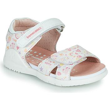 kengät Tytöt Sandaalit ja avokkaat Biomecanics 212165 Valkoinen / Monivärinen