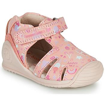 kengät Tytöt Sandaalit ja avokkaat Biomecanics 212107 Vaaleanpunainen