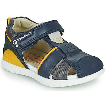 kengät Pojat Sandaalit ja avokkaat Biomecanics 212187 Laivastonsininen / Keltainen