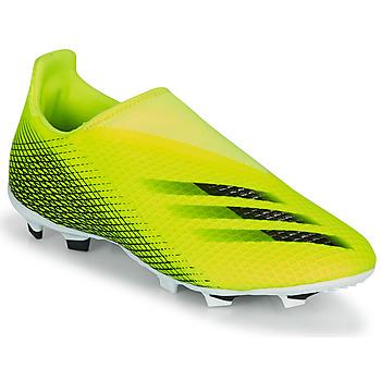 kengät Lapset Jalkapallokengät adidas Performance X GHOSTED.3 LL FG J Keltainen / Musta