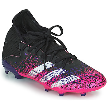 kengät Lapset Jalkapallokengät adidas Performance PREDATOR FREAK .3 F Musta / Vaaleanpunainen