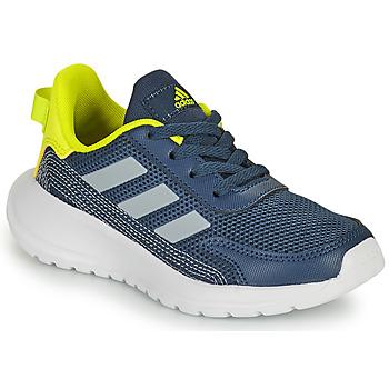 kengät Pojat Matalavartiset tennarit adidas Performance TENSAUR RUN K Sininen / Keltainen