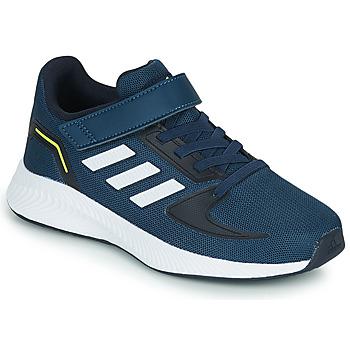 kengät Pojat Juoksukengät / Trail-kengät adidas Performance RUNFALCON 2.0 C Laivastonsininen / Valkoinen