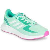 kengät Tytöt Matalavartiset tennarit adidas Performance RUNFALCON 2.0 K Turkoosi / Vaaleanpunainen