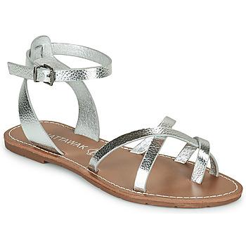 kengät Naiset Sandaalit ja avokkaat Chattawak PERLA Hopea