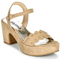 kengät Naiset Sandaalit ja avokkaat Myma POULIDOU Taupe