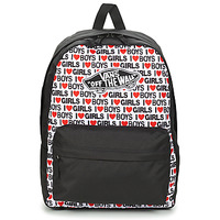laukut Naiset Reput Vans WM REALM BACKPACK Black multi wf sde / Boys / Girls