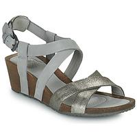 kengät Naiset Sandaalit ja avokkaat Teva MAHONIA WEDGE CROSS STRAP ML Harmaa / Metallinen
