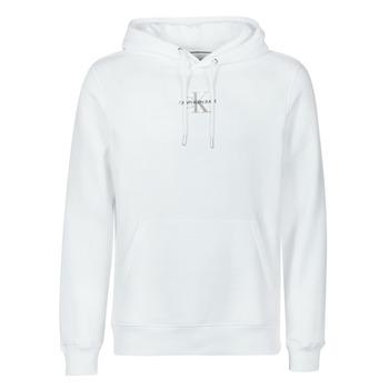 vaatteet Miehet Svetari Calvin Klein Jeans NEW ICONIC ESSENTIAL HOODIE Valkoinen