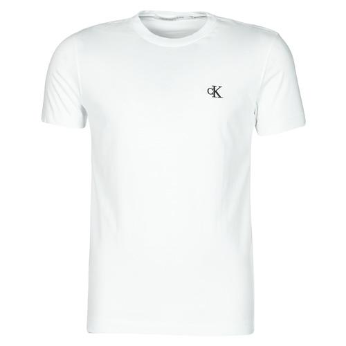 vaatteet Miehet Lyhythihainen t-paita Calvin Klein Jeans YAF Valkoinen