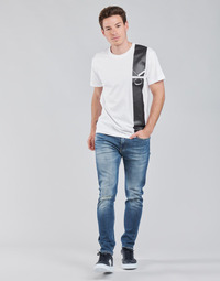 vaatteet Miehet Suorat farkut Calvin Klein Jeans SLIM TAPER Sininen