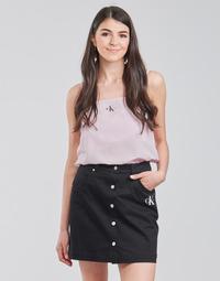 vaatteet Naiset Topit / Puserot Calvin Klein Jeans MONOGRAM CAMI TOP Vaaleanpunainen
