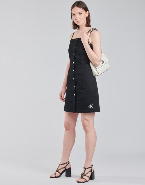 Calvin Klein Jeans COTTON TWILL BUTTON DRESS