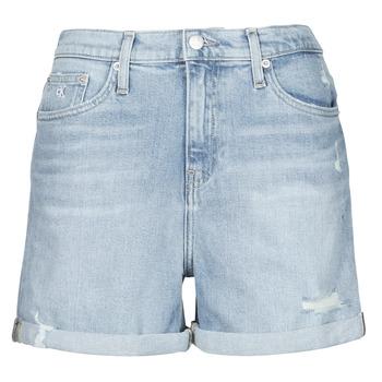 vaatteet Naiset Shortsit / Bermuda-shortsit Calvin Klein Jeans MOM SHORT Sininen / Clear