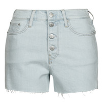 vaatteet Naiset Shortsit / Bermuda-shortsit Calvin Klein Jeans HIGH RISE SHORT Sininen / Clear