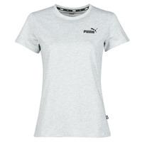 vaatteet Naiset Lyhythihainen t-paita Puma ESS LOGO TEE Harmaa