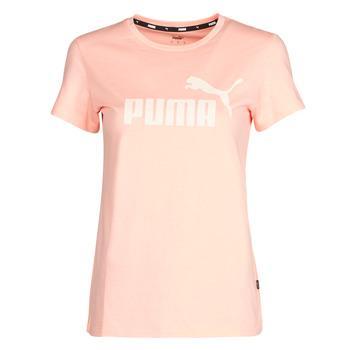 vaatteet Naiset Lyhythihainen t-paita Puma ESS Logo Tee (s) Apricot