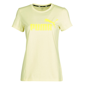 vaatteet Naiset Lyhythihainen t-paita Puma ESS Logo Tee (s) Keltainen