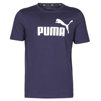 vaatteet Miehet Lyhythihainen t-paita Puma ESSENTIAL TEE Laivastonsininen