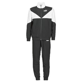 vaatteet Miehet Verryttelypuvut Puma Woven Suit CL Musta / Valkoinen