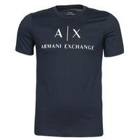 vaatteet Miehet Lyhythihainen t-paita Armani Exchange 8NZTCJ-Z8H4Z Laivastonsininen