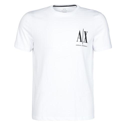 vaatteet Miehet Lyhythihainen t-paita Armani Exchange 8NZTPH-ZJH4Z Valkoinen