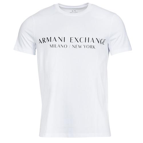 vaatteet Miehet Lyhythihainen t-paita Armani Exchange 8NZT72-Z8H4Z Valkoinen