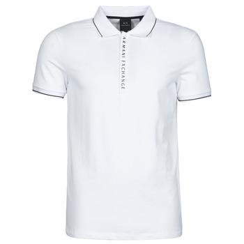 vaatteet Miehet Lyhythihainen poolopaita Armani Exchange 8NZF71-ZJH2Z Valkoinen