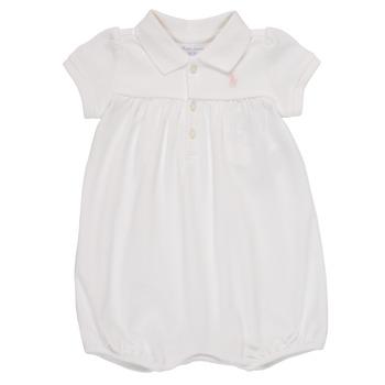 vaatteet Tytöt Jumpsuits / Haalarit Polo Ralph Lauren SIMONE Valkoinen