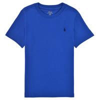 vaatteet Pojat Lyhythihainen t-paita Polo Ralph Lauren ELIVA Sininen / Chocolat / pronssi
