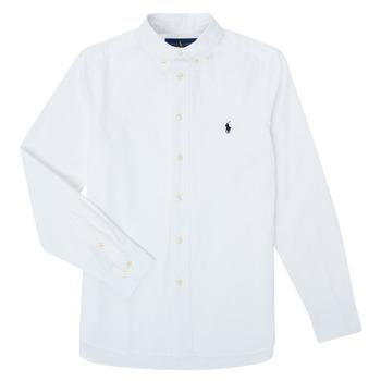 vaatteet Pojat Pitkähihainen paitapusero Polo Ralph Lauren CAMIZA White